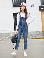 Women'sGoing out Vintage Solid Denim Square Neck Sleeveless Cotton / Polyester Inelastic Fall