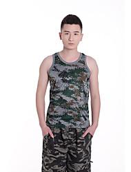 Men's Camouflage Sport Tank Tops,Cotton Sleeveless-Green