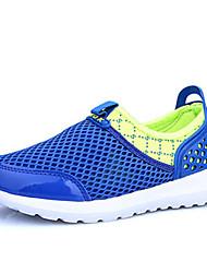 Boy's / Girl's Sneakers Spring / Fall Comfort PU Casual Flat Heel Slip-on Blue / White / Fuchsia