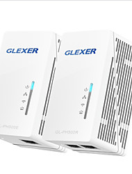 glexer passthrough AV500 adaptateur Powerline 2 ports Ethernet 2-pack réseau kit p / n gl-PH500 (re) kit