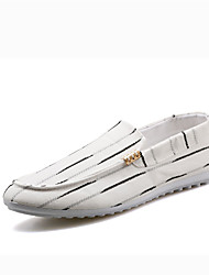 Men's Boat Shoes Fall Flats Canvas Casual Flat Heel Others Black / White Walking