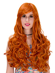 Orange long curly hair wig.WIG LOLITA, Halloween Wig, color wig, fashion wig, natural wig, COSPLAY wig.