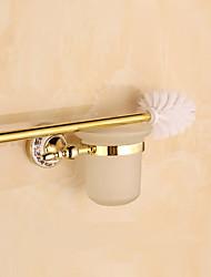 Suporte para Escova de Banheiro / Dourada / De Parede /15*8*5cm /Aço Inoxidável /Contemporâneo /8cm 15cm 0.23