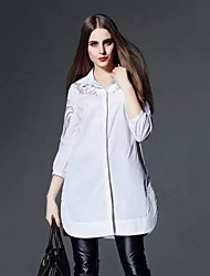 Boutique S Going out / Casual/Daily Simple Shirt DressSolid Shirt Collar Above Knee  Sleeve