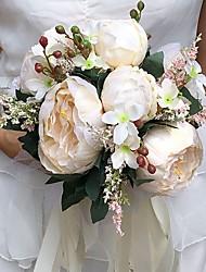 Fleurs de mariage Rond Pivoines Bouquets Mariage La Fête / soirée Satin Env.25cm