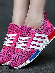 Da donna-Sneakers-Tempo libero SportivoPiatto-Tulle-Nero Blu Rosso Grigio