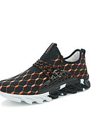 Da uomo-Sneakers-Tempo libero / Sportivo / Casual-Comoda-Piatto-Di pelle-Nero / Nero e oro / Nero e bianco
