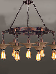 American Country Droplight industrial Hemp Rope Wind Guest Cafe Droplight