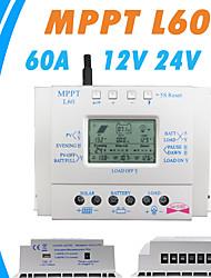 lcd 60a bateria painel solar usb controlador de carga regulador de 12v 24v PWM