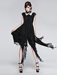 Punk Rave q-248 Frauen-Weinlese / sexy Mikro-elastisch sleeveless asymetrisches Kleid (Spandex)