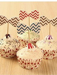 Birthday Party Tableware-24Piece/Set Other Favor Tag Hard Card Paper Rustic Theme Other Non-personalised Multi Color