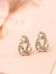 Women Alloy Golden  Stud Earrings