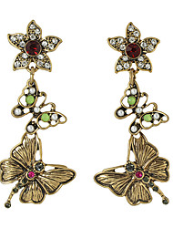 Earring Flower Drop Earrings Jewelry Women Fashion Party / Daily / Casual Alloy 1 pair Gold KAYSHINE