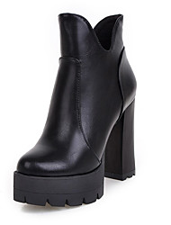Women's Shoes  Fashion Short Boots / Round Toe Bootie Ankle Boots Office & Career / Party & Evening
