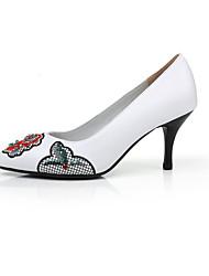 Damen-High Heels-Kleid / Lässig-Mikrofaser-Stöckelabsatz-Absätze-Rot / Weiß