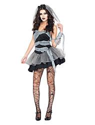 Costumes Ghost / Zombie / Vampires Halloween / Christmas / Carnival Black / Gray Vintage Dress / Tail / Headwear