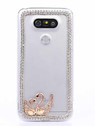 DIY Swan Pattern PC Hard Case for Multiple LG G3 G4 G5 G5SE V10 V20  K10 K7 K4