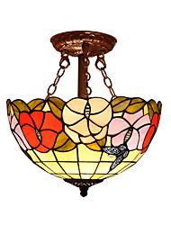 Butterfly lantern with 2 Lights For Tiffany Half pendant lamp