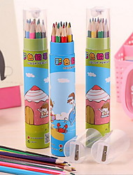 Children's Painting, Environmental Non-toxic Color Pencil Long 24 Color