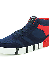 Autumn Winter Men's Casual Mid-top Skateboarding Shoes for Breathable and Warm for Hip-hop