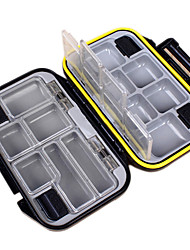 Anmuka Waterproof ABS Fishing Box 12 Compartments Outdoor Fishing Swivels Hook Lure Bait Tackle Box Tool Accessories