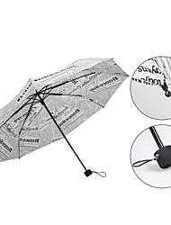 Preta / Branco Guarda-Chuva Dobrável Sombrinha / Ensolarado e chuvoso / Chuva Metal / têxtil / SiliconeCarrinho / Crianças / Viagem /