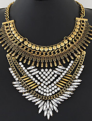 Necklace Statement Necklaces Jewelry Party / Daily Fashionable / Vintage Alloy / Rhinestone Gold / Silver 1pc Gift