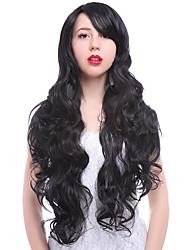 женщин способа милые леди парик 24inch синтетические парики длинные черный цвет косплей парик