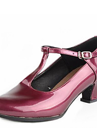 Modern Women's Dance Shoes Heels Low Heel Gold/Silver/Fuchsia
