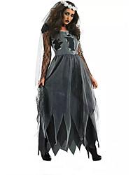 Women Zombie Costumes Corpse Bride Halloween Costume Fancy Party Dress Adult Vampire cosplay