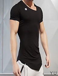 Running Tops Men's Short Sleeve Breathable Polyester Fitness Leisure Sports Badminton Cycling Running Sports Wear