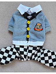 Perros Pantalones / Arneses Negro / Rosado Invierno / Primavera/Otoño Ajedrez / Britsh Enrejado, Dog Clothes / Dog Clothing-Other