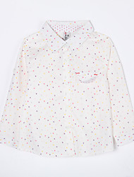 Girl's Casual/Daily Print BlouseCotton Fall White