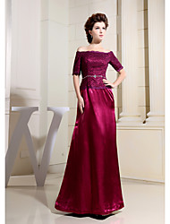 Formal Evening Dress Sheath / Column Bateau Floor-length Lace with Lace