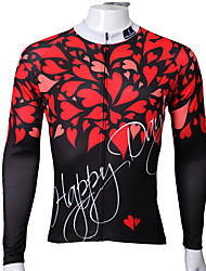 Sports Cycling Jersey Men's Long Sleeve Bike Breathable / Ultraviolet Resistant / Sweat-wicking Tops Coolmax Hearts Summer / Fall/Autumn