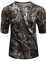 Outdoor Sports  Cotton Camouflage Summer Spring Short Sleeve Tshirt Camo Clothing Shirt for Hunting Fishing