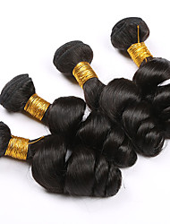 7a grade Brazilian Loose Wave Virgin Hair 4 Bundles human hair weave