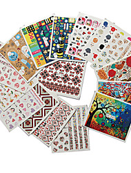 10pcs/lot Nail Art Sticker Water Transfer Decals Nail Art Design