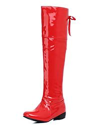 Feminino-Botas-Botas da Moda Sapatos clube Light Up Shoes-Salto Grosso Salto de bloco-Branco Preto Vermelho-Courino-Ar-Livre Escritório &