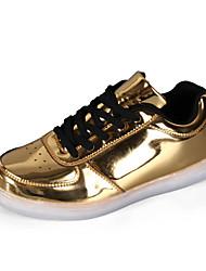 Herren-Sneaker-Lässig-PU-Flacher AbsatzSilber Gold