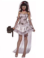 Costumes Angel & Devil / Zombie / Vampires Halloween / Christmas / Carnival White / Gray Vintage Dress / Gloves / Hats