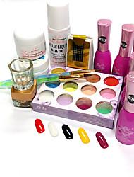 Nail Polish Gel UV 15ML 14 Purpurina / Variação de Cor / Gel de Côr UV / Gel de Revestimento Superior UV / PastelMergulhe off de Longa