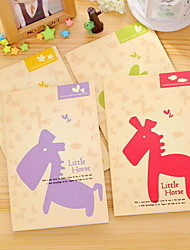A5 Car Line Single Line Cartoon Notepad 32K Cute Excercise(Random Colors)