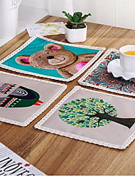 European Contracted Cotton And Linen Cloth Art Pot Pad Eat Mat