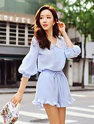 chinos solides de dabuwawa femmes / pantalon à jambes larges, mignon / street chic / sophistiquée