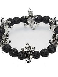 Strand Bracelets Black Stone Crocodile Shape Punk Style Daily / Casual Jewelry Gift