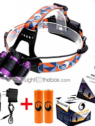 U`King® Headlamps / Headlamp Straps LED 9000ML Lumens 4 Mode Cree XM-L T6 18650Adjustable Focus / Rechargeable / Compact Size / High