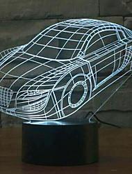 carro toque escurecimento 3D conduziu a luz da noite 7colorful decoração atmosfera lâmpada de iluminação novidade luz de Natal