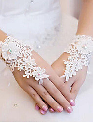 Wrist Length Fingerless Glove Lace Bridal Gloves Spring / Summer / Fall