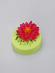 Silicone mold flowers shape fondant cake cupcake chocolate mold baking mold Color Random